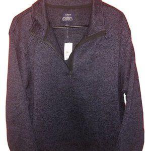 Men's J. Crew Sweater  1/4 zip blue size large NWT